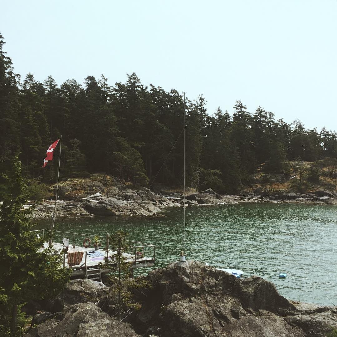 View of a small cove in Howe Sound